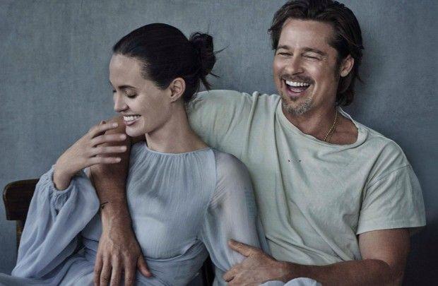 Angelina Jolie and Brad Pitt for Vanity Fair Italia <3