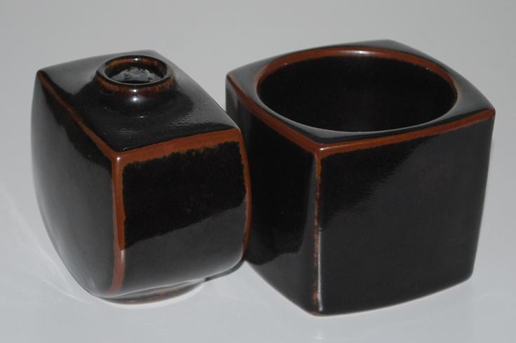Ellen Malmer, stoneware with tenmoku, Royal Copenhagen, Denmark.