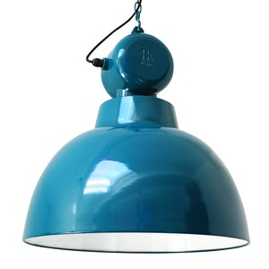 Factory Pendant Lamp Blue L now featured on Fab.