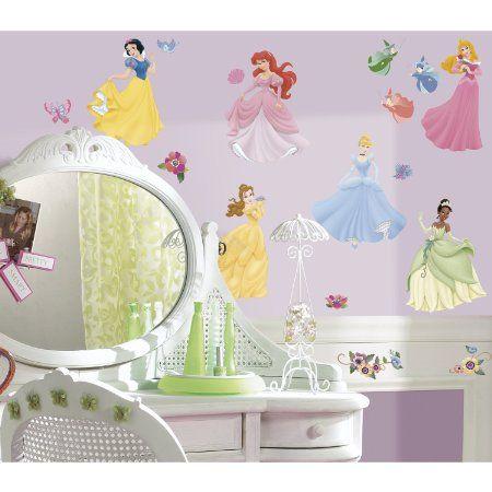 Roommates Rmk1470Scs Disney Princess Peel & Stick Wall Decals With Gems
