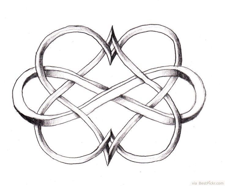 ** Cool Double Coronary heart Infinity Tattoo Design ❥ bestpickr.com/......