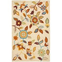@Overstock - Bring a touch of the garden into your home with the blossoms collection. An intricate floral design with updated fresh colors.http://www.overstock.com/Home-Garden/Handmade-Blossom-Beige-Wool-Rug-4-x-6/6234042/product.html?CID=214117 $107.99