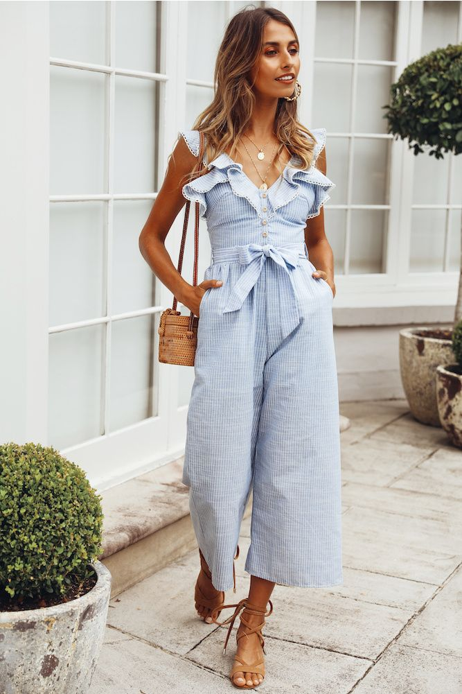 64ea8368e Different Times Jumpsuit Blue in 2019 | Becka Ann's Cute Chic Spring ...