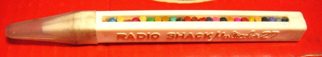 Radio Shack Multi-Color Pencil- OH MY LORD! I had totally forgotten about this, but being as I was a budding Artist, I thought it was the BEST invention ever  : ))