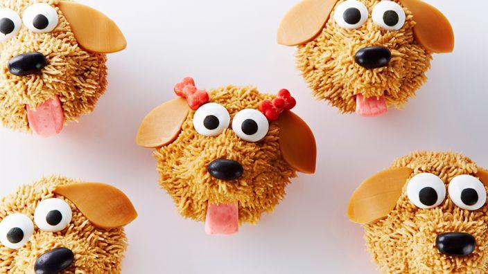 Vanilla Dog Cupcakes with Mocha Frosting Recipe