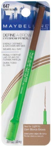 Maybelline New York DefineABrow Eyebrow Pencil 647 Light Blonde 001 OZ 50 mg PACK OF 3 *** Be sure to check out this awesome product.