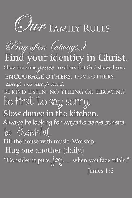 Good everyday reminders for our family.