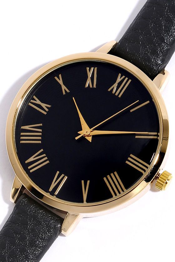 A sophisticated outfit should definitely be paired with the Time Can Tell Gold and Black Leather Watch! 6