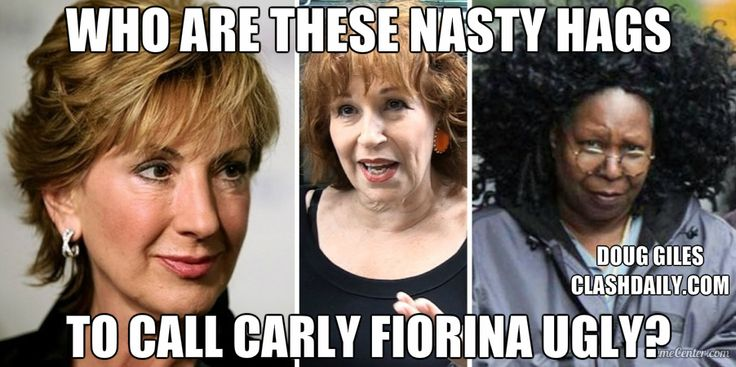 WHOOPI CALLING SOMEONE UGLY ?...LOL..AND JOY ? THEY ARE SAD  HAGS..  WHO ARE THESE NASTY HAGS To Call Carly UGLY? ⋆ Doug Giles ⋆ #ClashDaily