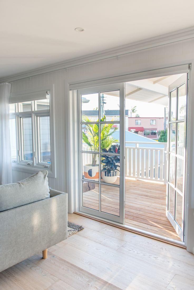 French doors by Wideline. Toowoon Bay Reno by Kyal and Kara. www.wideline.com.au