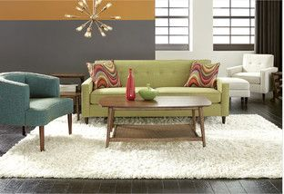 Create the perfect retro-inspired living room with natural accents, clean lines, and geometric prints. Take a step back in time with egg chairs and streamlined sofas. Then, experiment with bright & bold colors like oranges, avocado, and bright teal to create a space reminiscent of the swinging 60's.http://www.allmodern.com/deals-and-design-ideas/The-Retro-Refresh~E17532.html?refid=SBP.rBAZEVRRl4Fuvma7c4tTAldM4sIdCkCIp1uwOCNlPxk