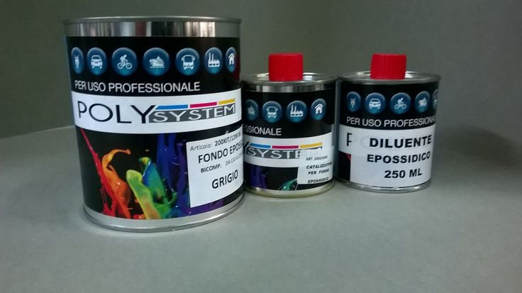 kit PRIMER EPOSSIDICO 1kg + 250ml cat + 250ml diluente ep. POLYSYSTEM