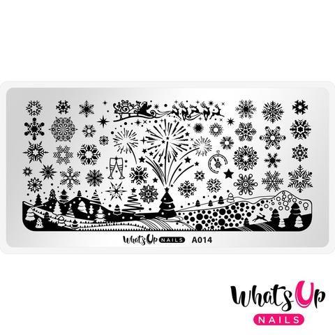 Whats Up Nails - A014 Holiday Snowfall stamping plate   Hypnotic Polish