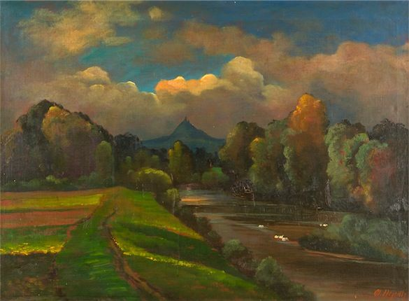 OTAKAR NEJEDLÝ (1883 - 1957) Landscape Krajina
