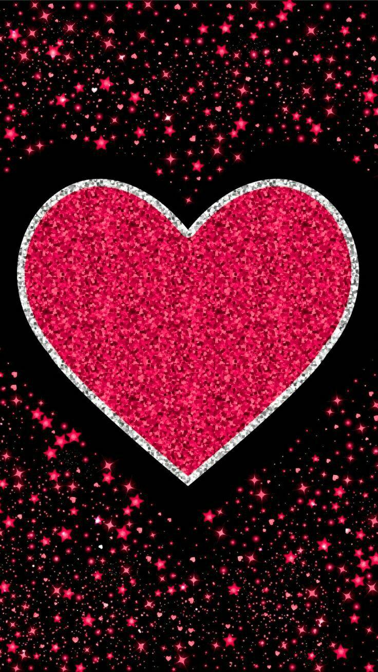 картинки с сердечками с блестяшками красивые