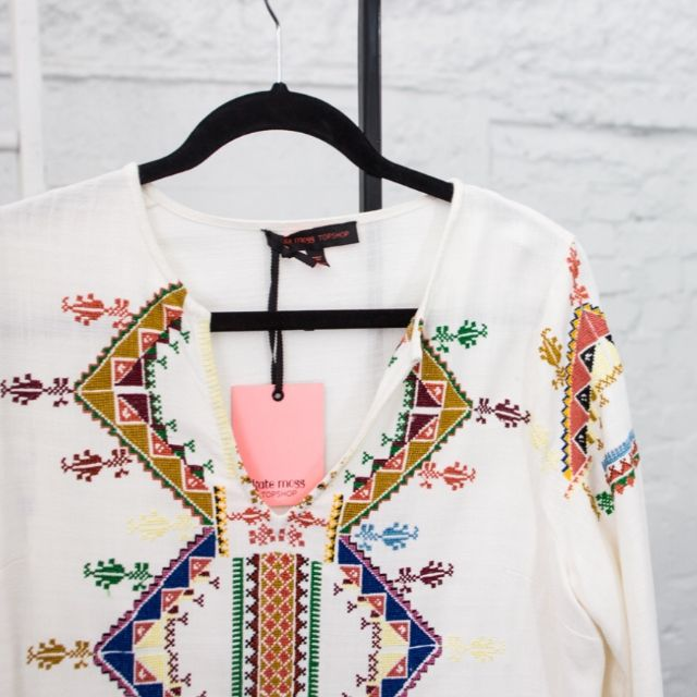 Breez - Kate Moss For Topshop Embroidered Smock Blouse