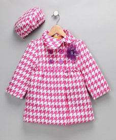 Pink Houndstooth Coat
