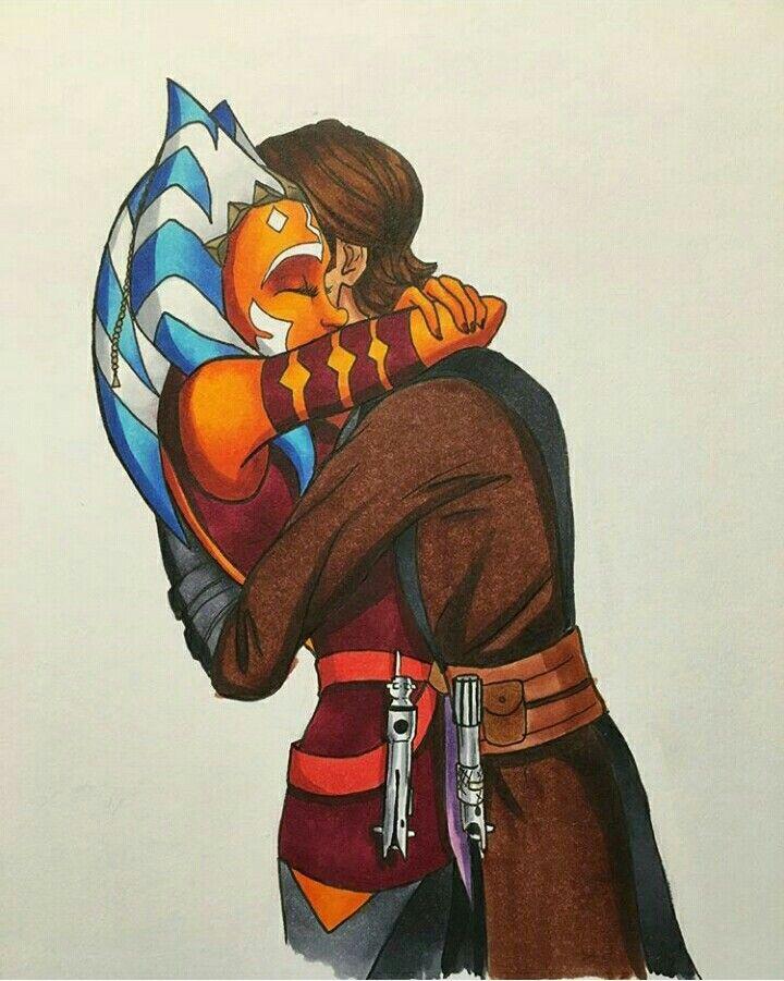 Ahsoka And Anakin Star Wars Cartoon Star Wars Ahsoka