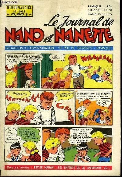 Le journal de nano et nanette n° 343. collectif.