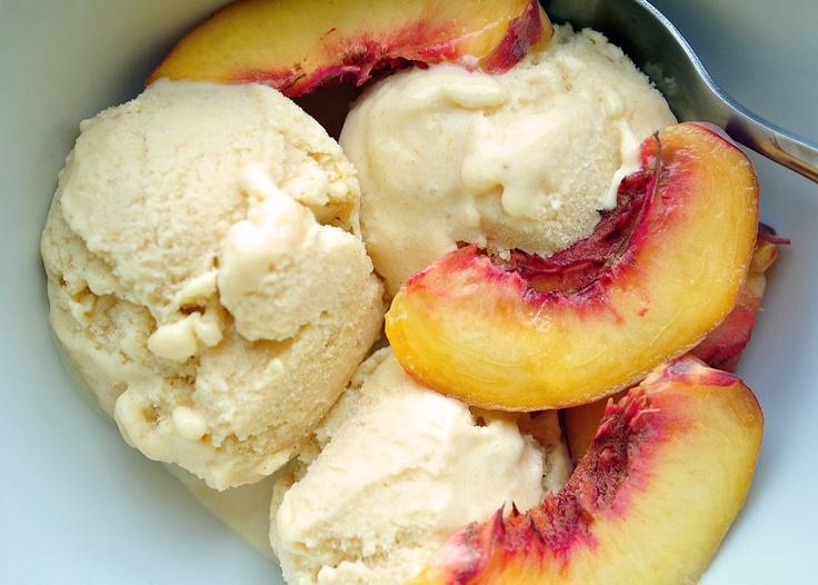 Honey Peach Ice Cream by My Life Runs on Food