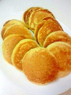 「おからパンケーキ」ジャムや生クリームのせてもおいしいですシーチキや卵でも(*´▽`*)もちろんたくさんの水分といっしょに!【楽天レシピ】