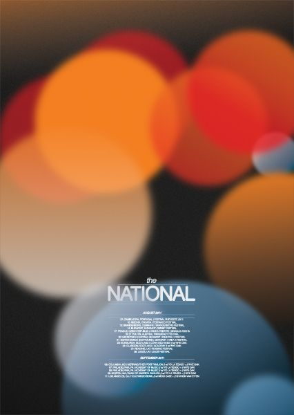 THE NATIONAL - A POSTER