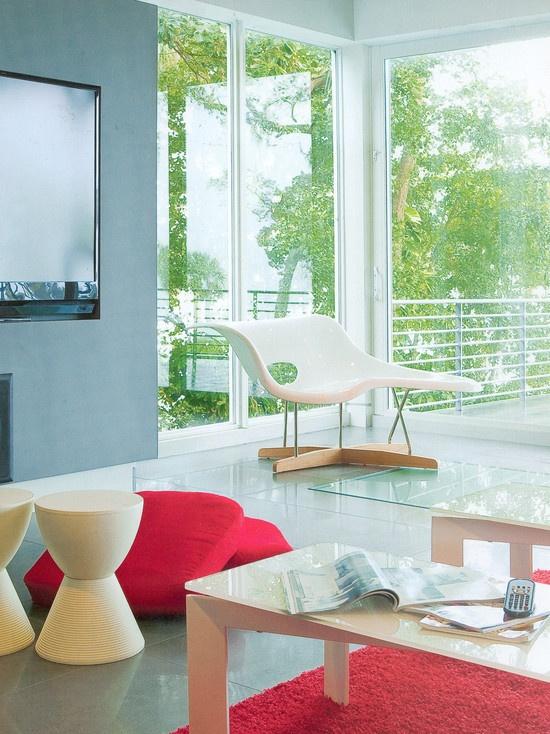 contemporary living room beach house