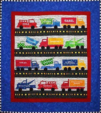 Trucks Quilt Pattern