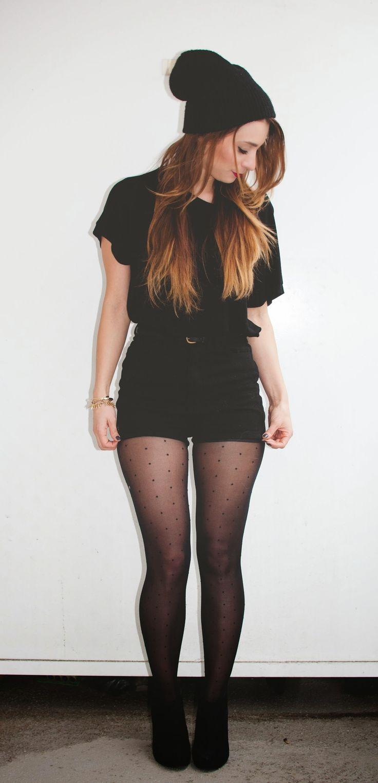La Petite Noob: OOTD - Shorts and Tights  WTF!