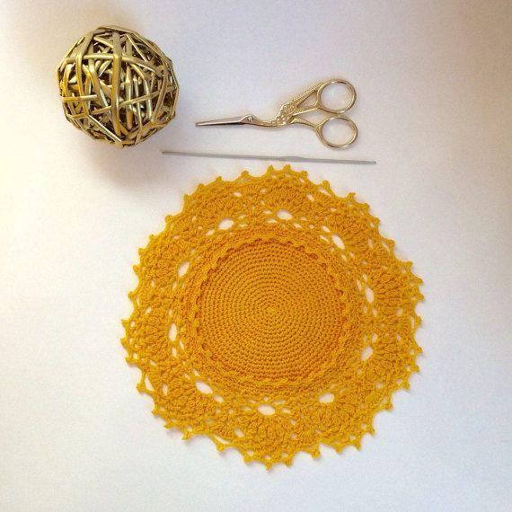 Doily crochet color Home decor Lace doily от EcoCrochetArt на Etsy