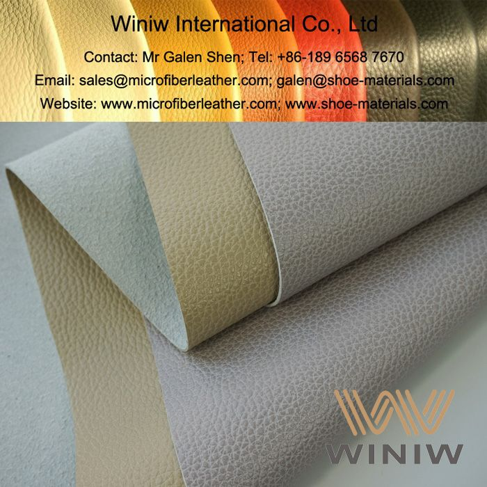 High Quality Faux Leather Material For Furniture And Sofa Upholstery    WINIW Microfiber Leather! Luxurious