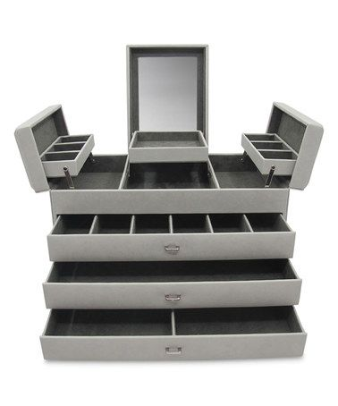 Loving this Platinum Sophia Large Leather Jewelry Box on #zulily! #zulilyfinds