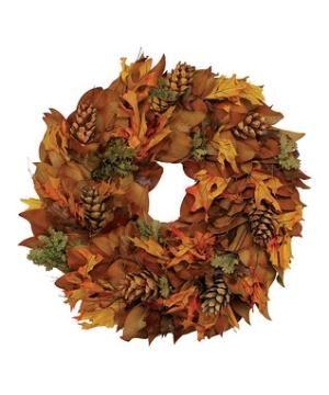 Copperbacked Pine Cone Wreath by ibLisaLynn