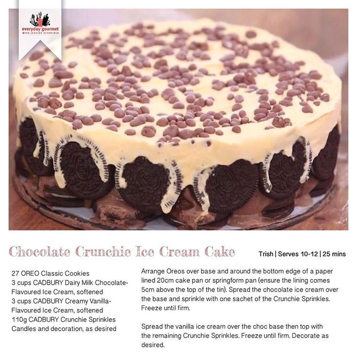 Recipe for Chocolate Crunchie Icecream Cake