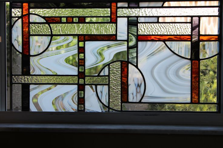 Stained Glass Abstract Art - Window Panel - Contemporary Stained Glass Panel - pinned by pin4etsy.com