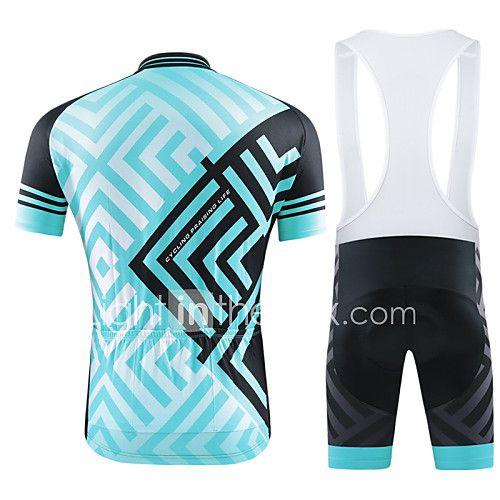 Maglia con salopette corta da ciclismo Per donna Per uomo Unisex Maniche corte BiciclettaSalopette T-shirt Pantaloncini /Cosciali del 2017 a $49.99