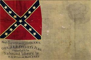 "JEB Stuart Headquarters Flag - 2nd National pattern.   Also known as ""The Stainless Banner  At the MOC"