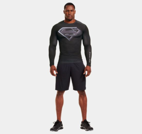 Under Armour Compression Shirt Superman Style Want