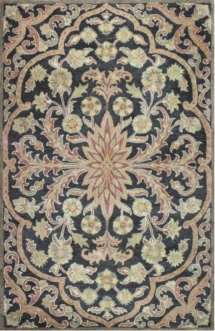 This Hand Tufted Jaunty Legacy Area Rug In A Smokey Black