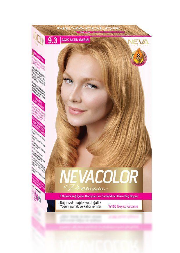 Nevacolor Premium Sac Boyasi 9 3 Acik Altin Sarisi Sac Sac