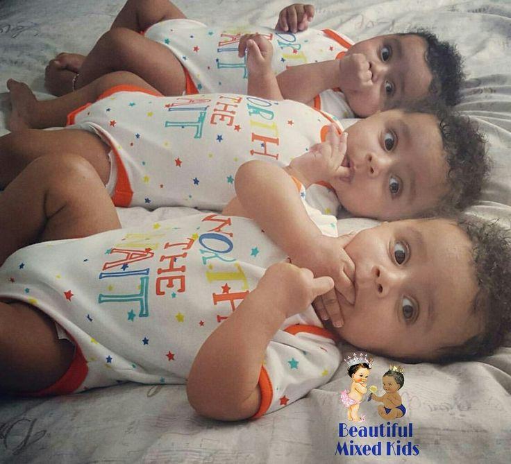 Kayson, Omari & Dimarco - 7 Months • Mom: Indian • Dad: Grenadian & Aruban ❤❤❤