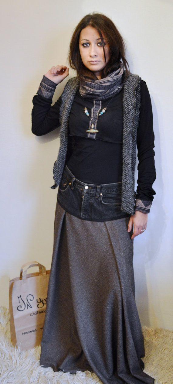 Maglia corta a collo alto con manica lunga e inserti di cotone thailandese a motivi orientali