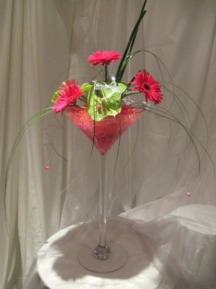 Flower Arrangements For Large Martini Glasses |  Http://ns1.vreglobalbackup1.co