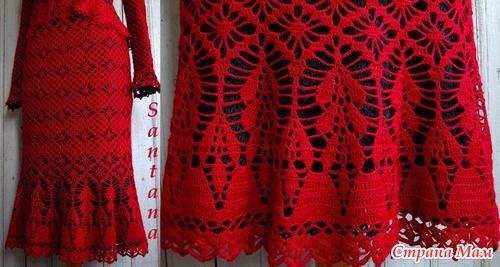 Красный костюм из полушерсти (много фото)