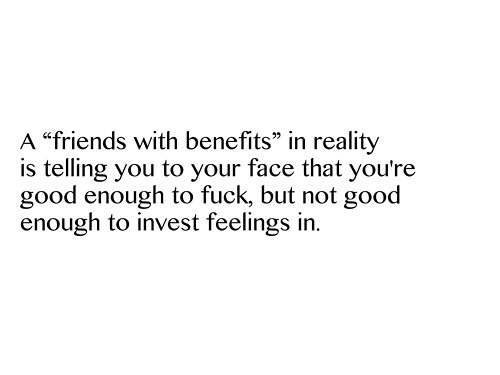 Having a friends with benefits relationship