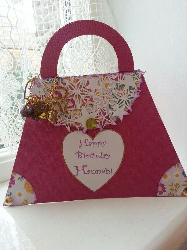 Handbag Card with charms