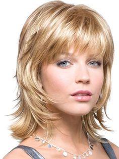 Heute nur sehr wenige Frauen entscheiden, ihre Haare schneiden in einer Länge Stile haben. Shag Haarschnitt aussehen modern, scharf und form...