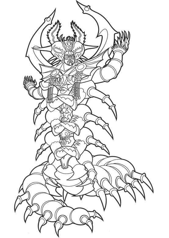 Monsters Of The Enemy Power Ranger Coloring Pages