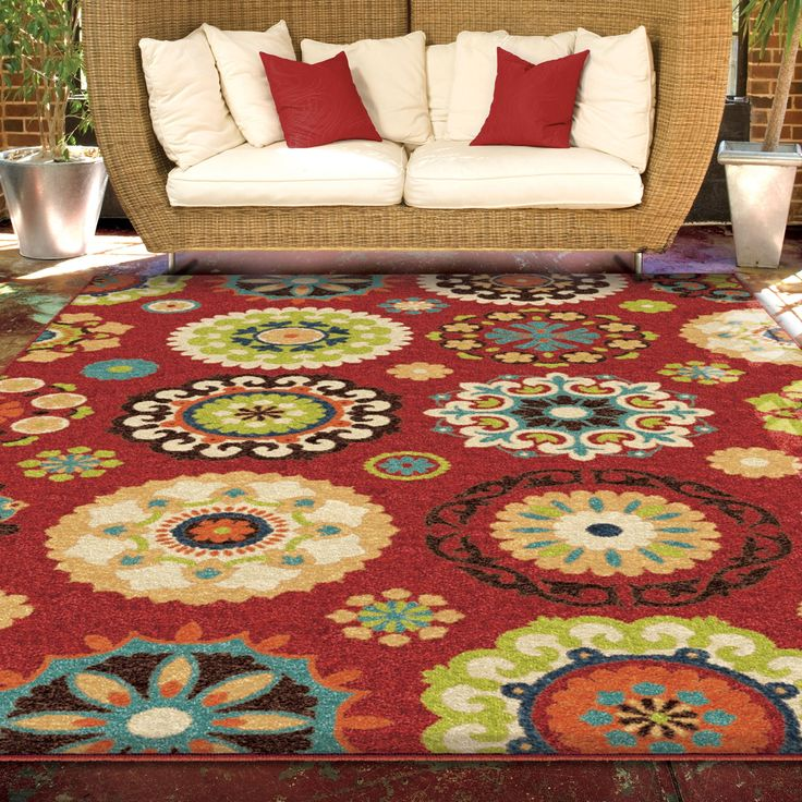 Promise Collection Salsalito Red Olefin Indoor/Outdoor Area Rug X    Overstock™ Shopping   Great Deals On Carolina Weavers   Rugs
