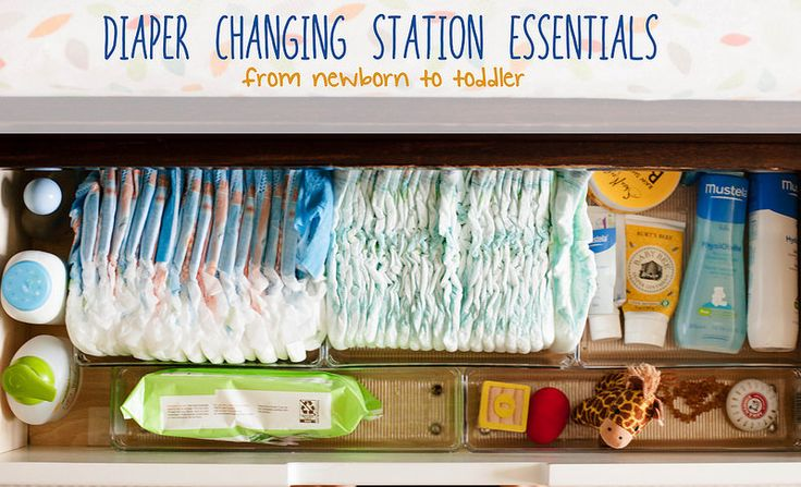 Diaper Changing Station Essentials :: From Newborn to Toddler
